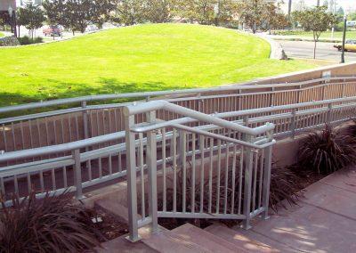 Anahiem City Hall Stairand Ramp Handrail