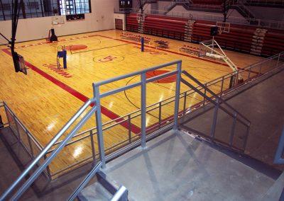 High School Gym LA Glass Railing