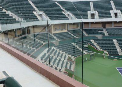 Indian Wells Tennis Stadium Glass Railing