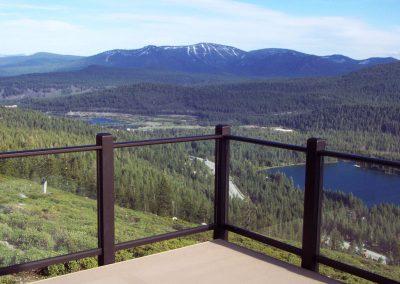 Lake Tahoe Residence Glass Railing