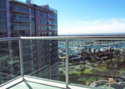 Marina Del Rey Condo Glass Railing