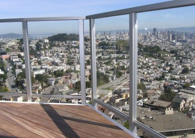 Private Residence San Francisco Glass Railing