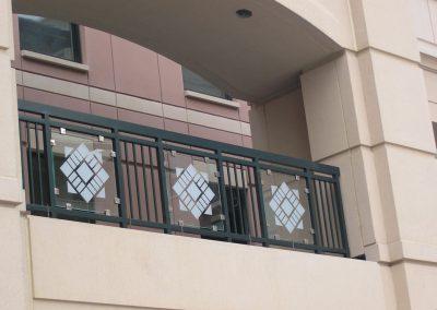 San Jose St. Univ. glass panel Gates and Custom Fabrications